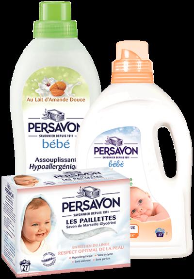 Persavon - Packshots des produits pour bébé
