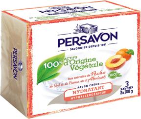 Persavon - Savon solide - Pêche et Abricot